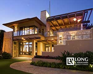 Hawaii Architects Longhouse Design+Build Jeff Long Associates AIA custom luxury home build interior designs Honolulu Chapter/American Institute of Architecture Awards