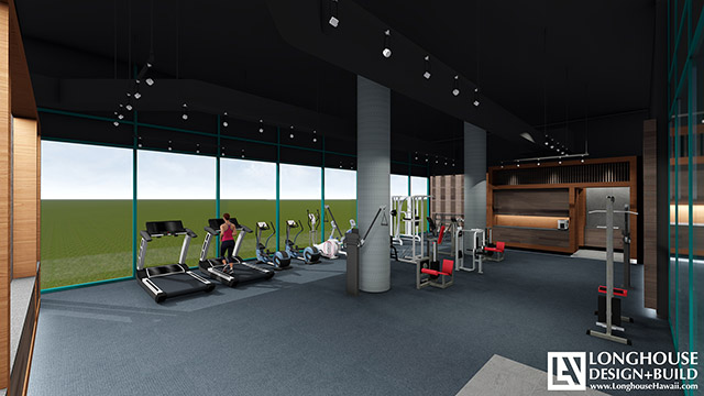 Waikiki Landmark Fitness Center - Rendering